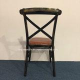 椅子を食事する産業レストランの家具の十字の背部金属