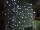 La decoración de boda y la luz blanca LED cortina de tela blanca estrella