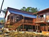 モジュラー鉄骨構造フレームサンドイッチパネルの別荘の家かホーム