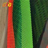 Tessuto giallo/arancione/di colore rosso 100% poliestere di maglia per le maglie riflettenti di sicurezza