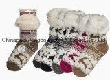 Baumwolle trifft Wolle-Socken-Fußboden-Socken Legging Socken hart