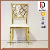 Pattern Gold-Plated chaise de salle à manger en acier inoxydable