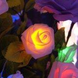 ローズ吊り下げ式LED軽いRGBの休日の時間はクリスマスツリーの装飾の照明をつける