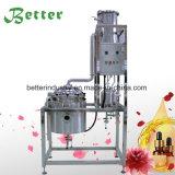 El aislamiento de los aceites esenciales por la destilación de vapor