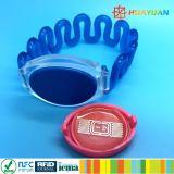 Wristband пластмассы управления эластичный RFID членства клуба