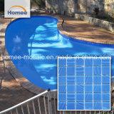 De blauwe Vierkante Tegel van het Zwembad van het Mozaïek van het Glas