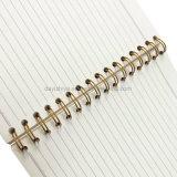 PVC螺線形ノートの印刷学生の文房具の演習帳