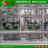 La calidad de la línea de reciclaje de llantas con motor Siemens de trituración de residuos/recorte/neumáticos usados