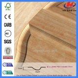 De superficie lisa de nido de abeja de papel chapa de madera de la puerta