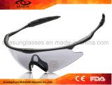 Подгонянный обруч вокруг ночи Eyewear напольного спорта ночного видения объектива солнечных очков спорта желтой управляя стеклами