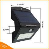 4働くモードの太陽動きセンサーの壁ライト15 LED庭の屋外の機密保護ランプ
