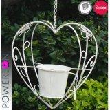 La decoración de jardín colgante de metal en forma de corazón ollas de la sembradora