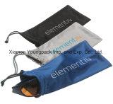 Il modo ha reso personale il sacchetto nero stampato di Microfiber del Drawstring per i vetri