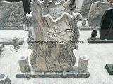 Stlye popolare in Headstone europeo di coltivazione a frana del granito della Cina Juparana per le tombe