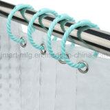 Hogar Plastci ganchos de cortina de ducha en forma de anillo