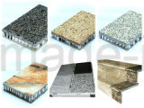 Composto di pietra ricco granito/del marmo di appoggio con i comitati di alluminio del favo