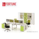 Stazione di lavoro verde moderna del cubicolo del centro di chiamata delle forniture di ufficio (FOH-N4828)