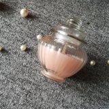 Vela de cristal rosada leal de lujo del tarro del caramelo con el olor de Rose