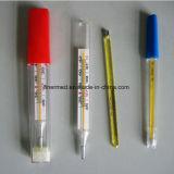 De medische Klinische Mondelinge Thermometer van het Kwik van het Glas