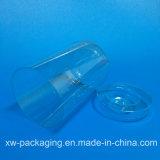 Boîte en plastique en plastique claire de cylindre de prix bas