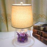 Regalo preservado decorativo de la Navidad de la lámpara de escritorio de la flor de la venta caliente