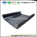 Perfil de alumínio anodizado escovado personalizado para o áudio do carro com a norma ISO9001
