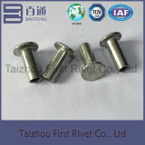 5X12mmの白亜鉛カラー平らなヘッド半管状の鋼鉄リベット