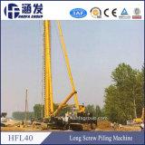 Plataforma de perforación de la venta del taladro hidráulico caliente de la construcción/programa piloto de pila del tornillo (hfl40)