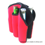 Portátil de neopreno personalizados vino de hielo 6 botella de cerveza del refrigerador titular
