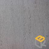Papel impregnado da grão da madeira de carvalho branco melamina decorativa para o folheado, o assoalho, a porta e a mobília do fabricante chinês