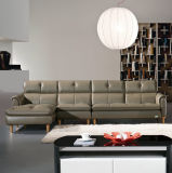 Muebles modernos del sofá del cuero genuino para el hogar (993)