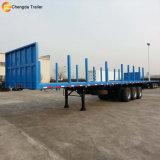 Flatbed Aanhangwagen van de Container met Facultatieve Staaf voor Houten Vervoer van het Logboek