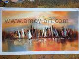 Оранжевый ручной работы коллекция абстрактных ландшафт картины маслом искусства стран Северной Европы