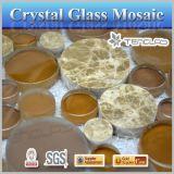 El azulejo de mosaico redondo de la venta del espejo del azulejo de hoja del azulejo caliente del vidrio vario de colores podía ser modificado para requisitos particulares