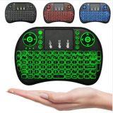 Mini Touchpad sin hilos del teclado del ratón retroiluminado y normal del aire I8 teledirigido para la PC androide PS3 Gamepad del contraluz del rectángulo de la TV