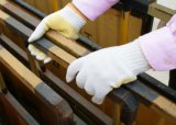 70% 면 30% 폴리에스테 PVC 코팅 종려에 의하여 뜨개질을 하는 일 장갑