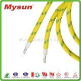 La fibra de vidrio tejido el cable certificado UL de alta temperatura del alambre del silicón
