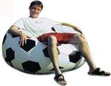 Bank Recliner van pvc van het Ontwerp van de Bal van het voetbal de Opblaasbare Luie
