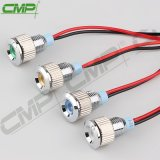 Indicatore luminoso di indicatore impermeabile del supporto 8mm del comitato della lampadina di segnalazione del metallo del CMP LED con cavo