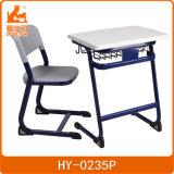 楕円形の鋼鉄管の学校家具学生の机および椅子の/Highの品質のプラスチック単一の机および椅子