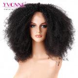 Grote Dichtheid 250% Braziliaanse Pruik van het Haar van Remy van de Krul van Afro van de Pruik van het Kant Kroezige