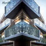 L'aluminium perforé découpé au laser décoratifs en métal de l'écran du panneau de façade solide