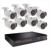 8 방수 CCTV 감시 카메라를 가진 720p 8 채널 DVR 장비