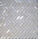 網のモザイクの白い淡水のシェル15*30