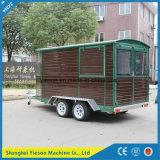 木の物質的な移動式コーヒートラック