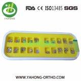 Ce ortodóntico FDA ISO13485 del corchete del metal del material dental