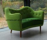 يتعاقد [سليد ووود] صغيرة أسرة أثاث لازم [نورديك], قماش فنية أريكة [غنّت] أريكة مزدوجة مبتكر [بنبغ] كرسي تثبيت ([م-إكس3504])