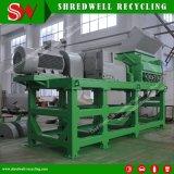 Desperdício/sucata/pneu usado que recicl a máquina para fazer a 10-20mm o Mulch de borracha