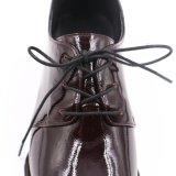 2018 elegante acabado liso de cuero de mujer zapatos de ocio