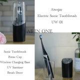 Recargable Inalámbrico IPX7 Sonic cepillo dental eléctrico con esterilizador de pelo